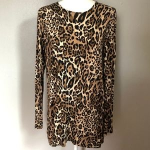 Grace Elements Animal Print Long Sleeve Tunic Top